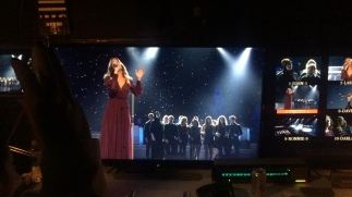 Gospel Choir singing with LeAnn Rimes at CMA Country Christmas